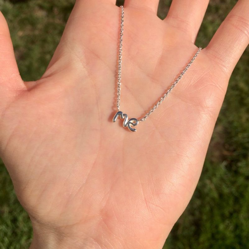 Me necklace in sterling silver