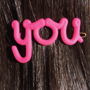 You hair clip in pink