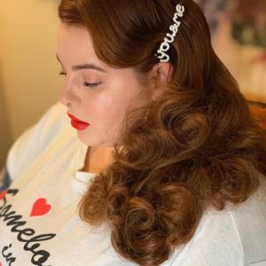 Tess Holliday wearing Zoe's 'You&Me' hair clip