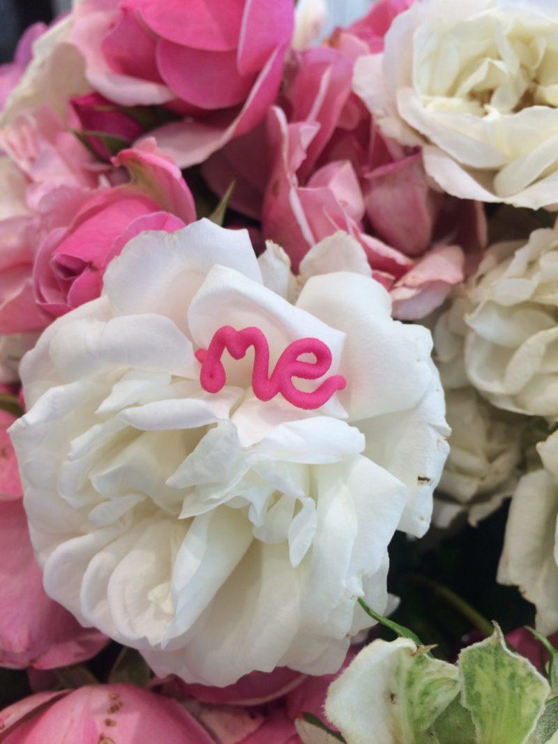 Me ring in Pink 3D printed Nylon