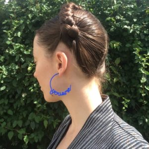 Blue You and Me Hoop Earrings by Zoe Sherwood