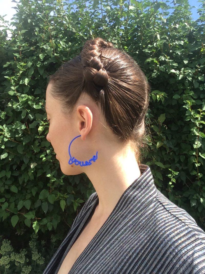 Blue You and Me Hoop Earrings by Zoe Sherwood