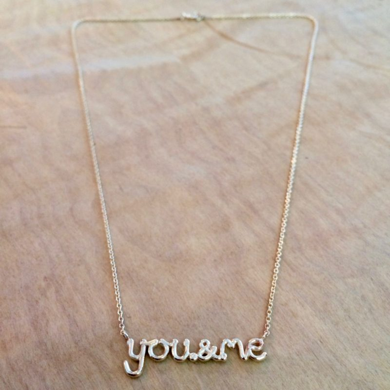 You and Me sterling silver necklace