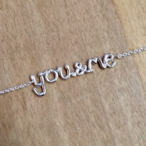 You and Me sterling silver bracelet