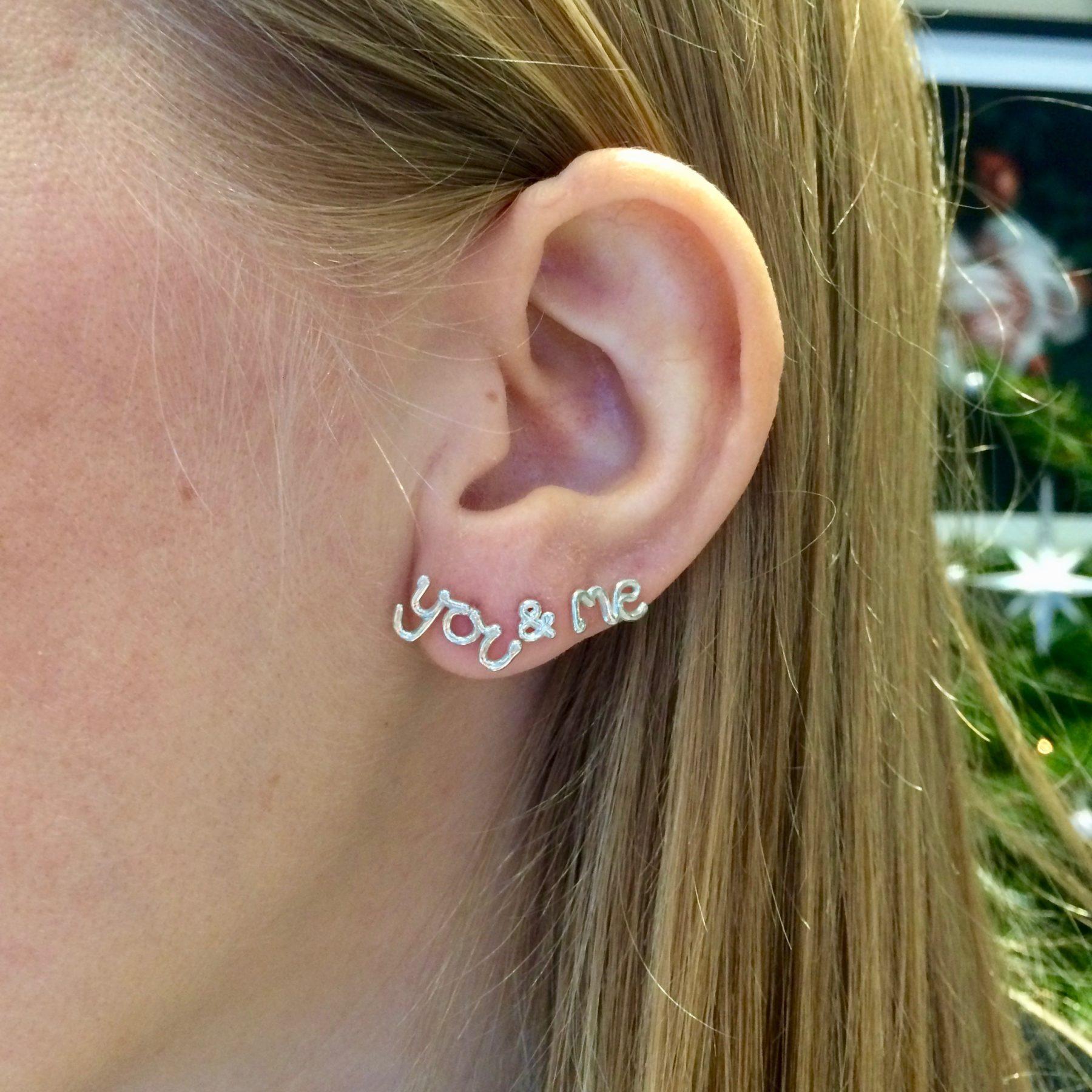 8558d75fb You' '&' 'Me' single stud earrings by Zoe Sherwood · '